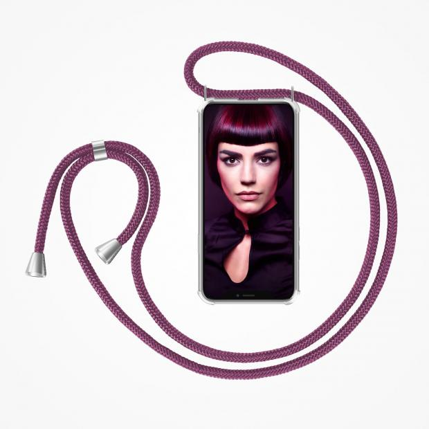 ZhinkArts Phone Necklace / Handykette - Aubergine