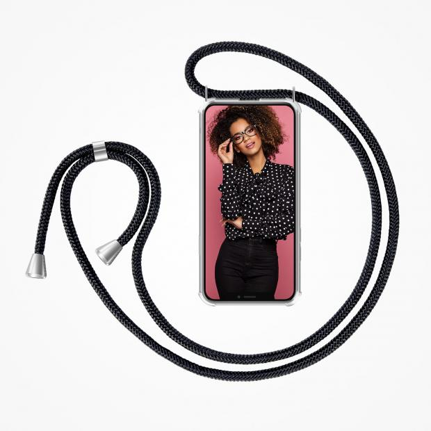 ZhinkArts Phone Necklace / Handykette - Black