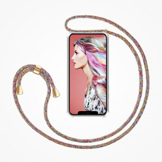 ZhinkArts Phone Necklace / Handykette - Rainbow