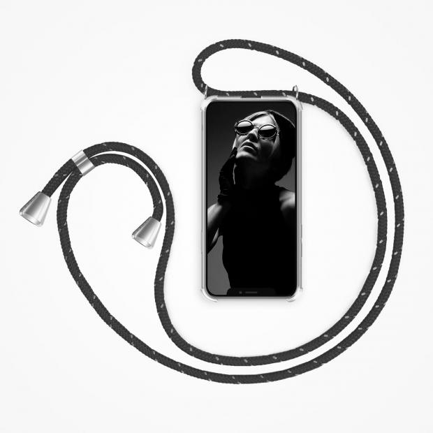 ZhinkArts Phone Necklace / Handykette - Reflected Black