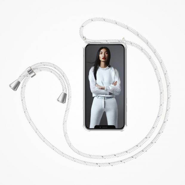 ZhinkArts Phone Necklace / Handykette - Reflected White