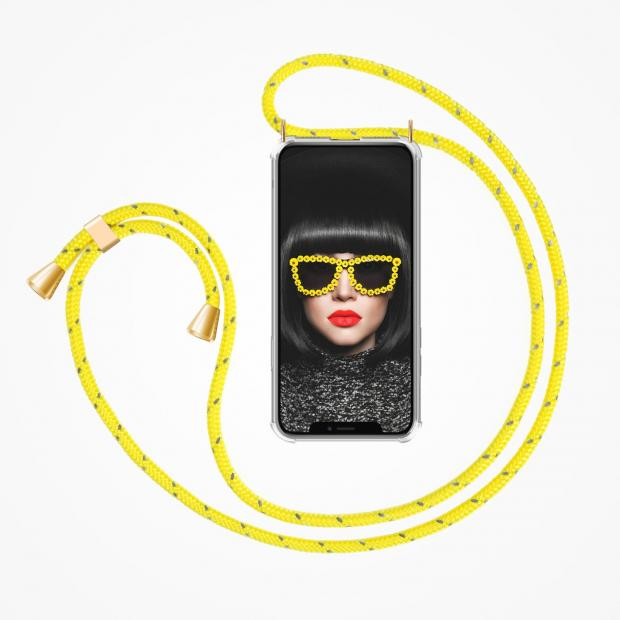 ZhinkArts Phone Necklace / Handykette - Reflected Yellow
