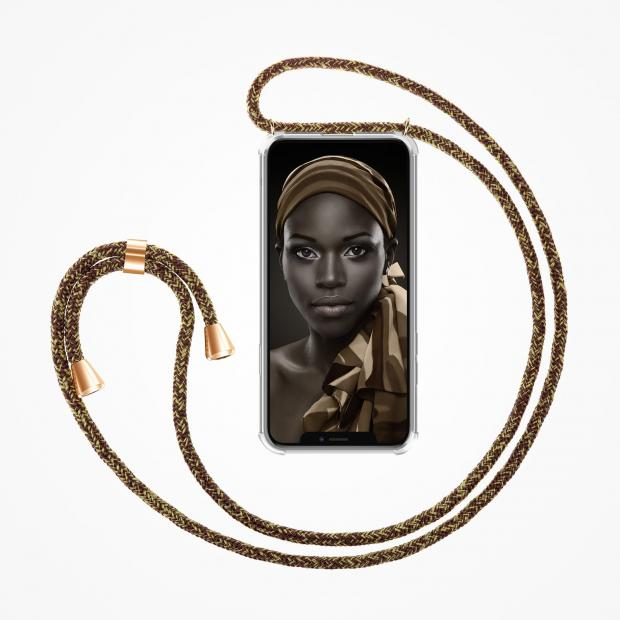 ZhinkArts Phone Necklace / Handykette - Rusty Gold