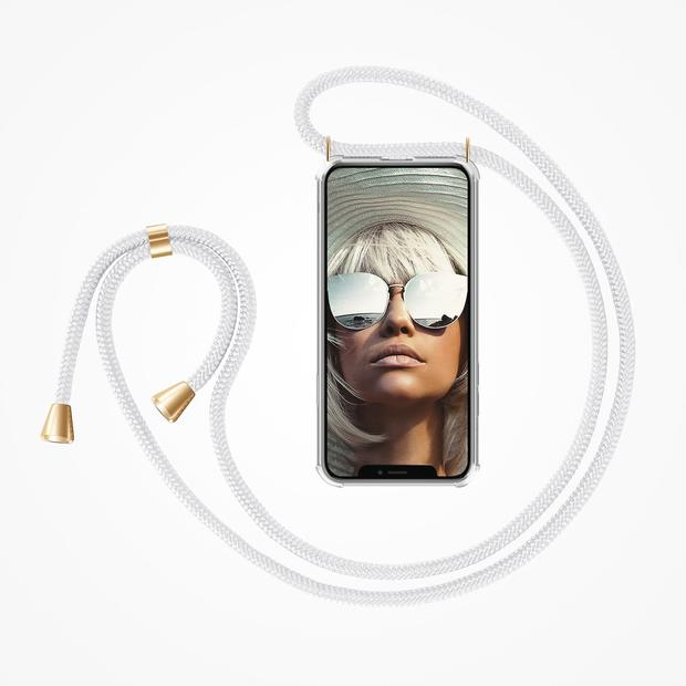 ZhinkArts Phone Necklace / Handykette - White
